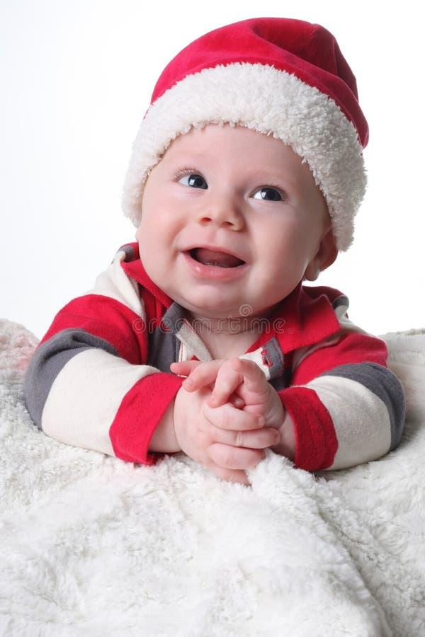 Bebé de la feliz Navidad fotografía de archivo