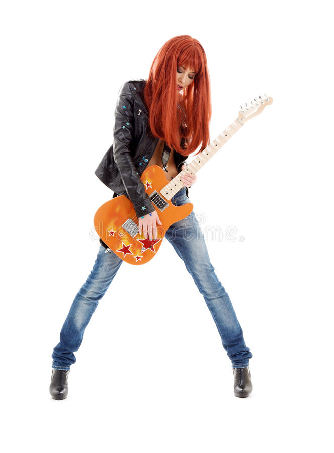 Bebé de la guitarra imagen de archivo libre de regalías