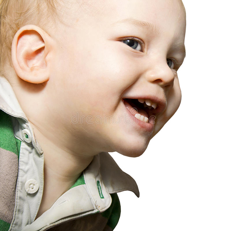 Bebé de la sonrisa fotografía de archivo