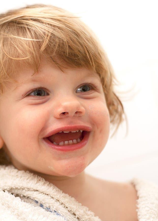 bebé de la sonrisa imagen de archivo