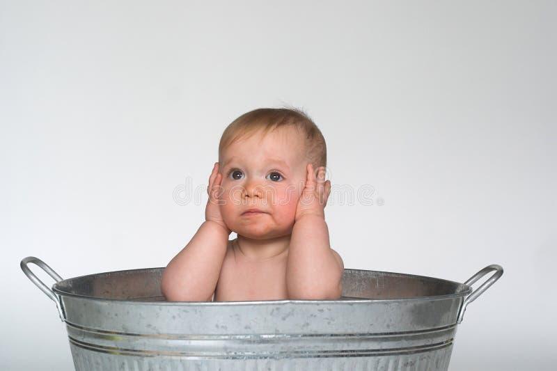 Bebé de la tina imágenes de archivo libres de regalías
