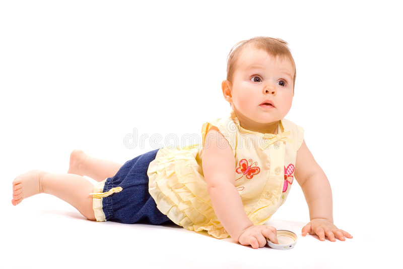 Bebé de mentira imagen de archivo