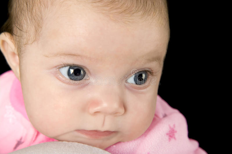 Bebé de pensamiento imágenes de archivo libres de regalías
