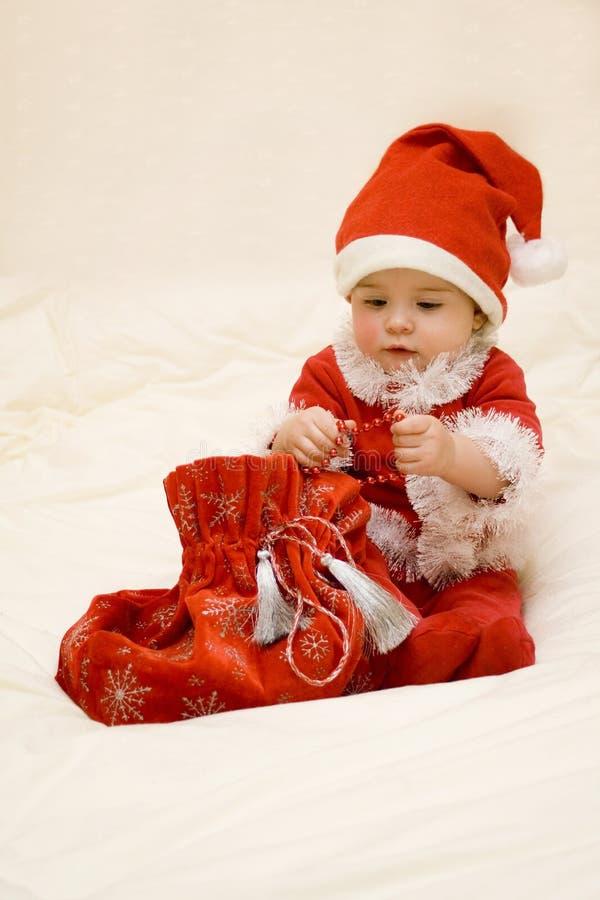 Bebé de santa de la Navidad imagen de archivo libre de regalías