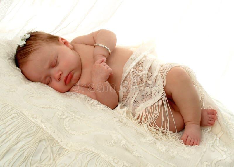 Bebé de sono imagens de stock