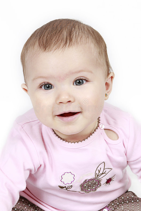 Bebé de sorriso imagem de stock