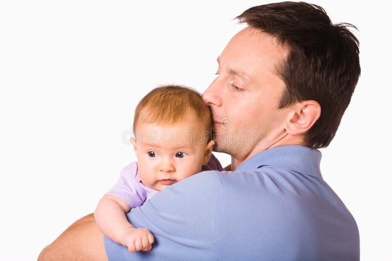Bebé del asimiento del padre imágenes de archivo libres de regalías