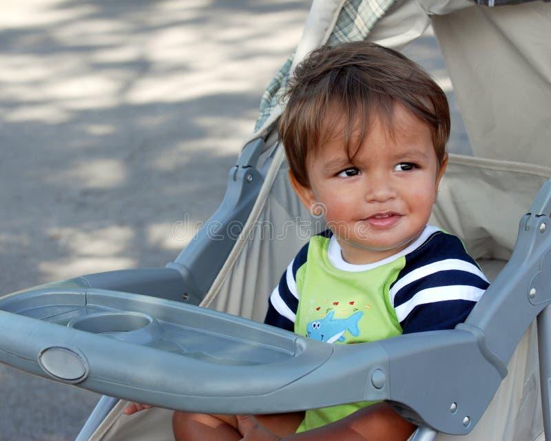 Bebé del cochecito imagen de archivo libre de regalías