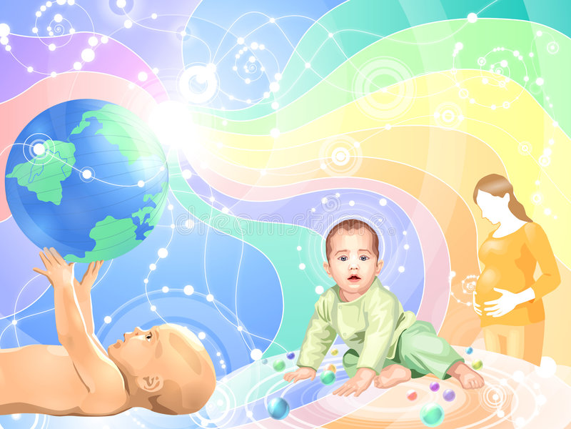 Bebé del concepto de la vida libre illustration