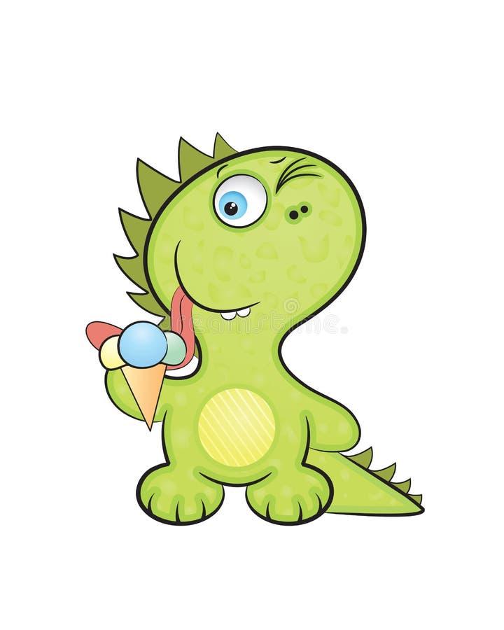 Bebé del dragón ilustración del vector