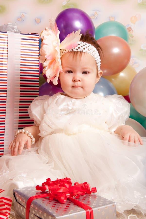 Bebé del feliz cumpleaños fotografía de archivo