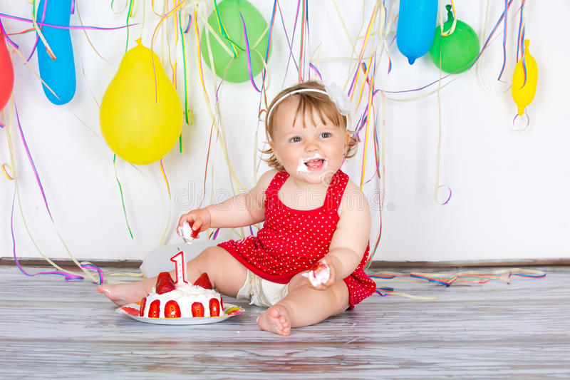 Bebé del feliz cumpleaños fotos de archivo libres de regalías