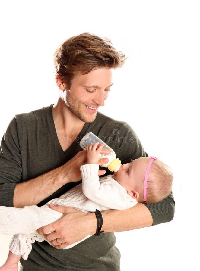 Bebé del padre foto de archivo libre de regalías