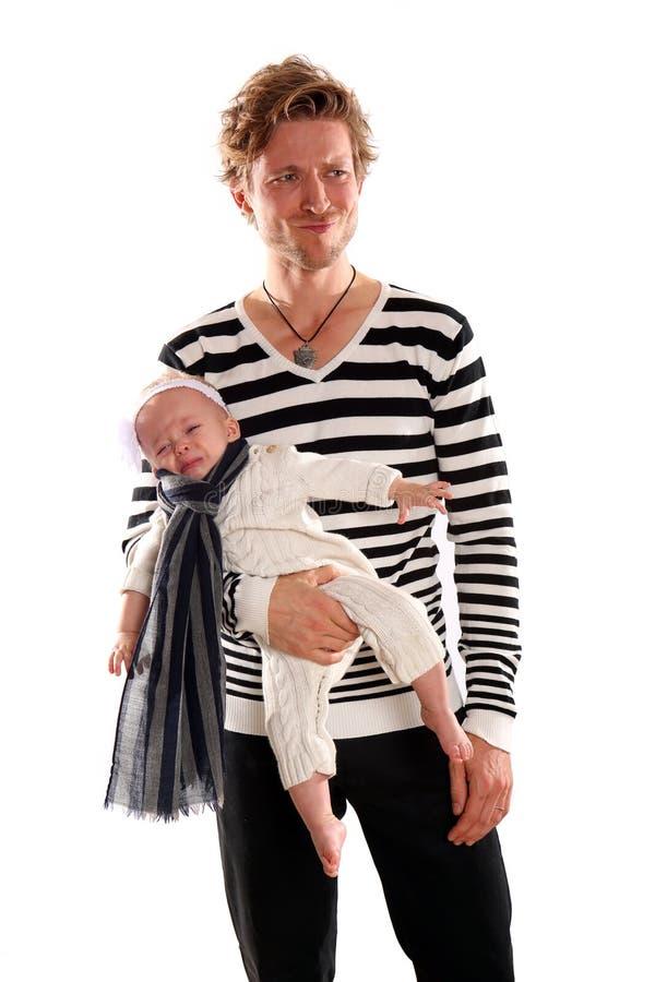 Bebé del padre imagen de archivo libre de regalías