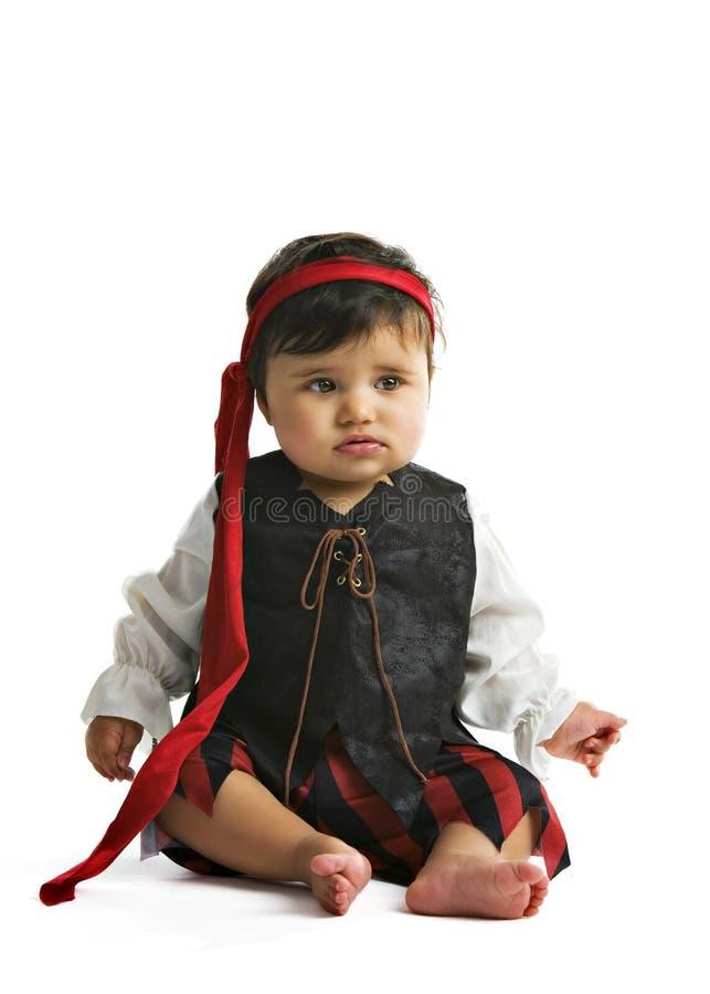 Bebé del pirata foto de archivo