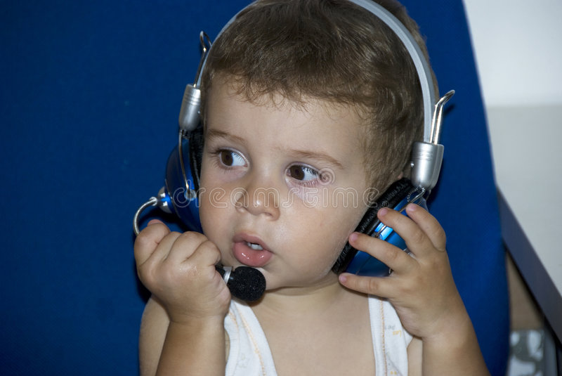 Bebé DJ foto de archivo libre de regalías