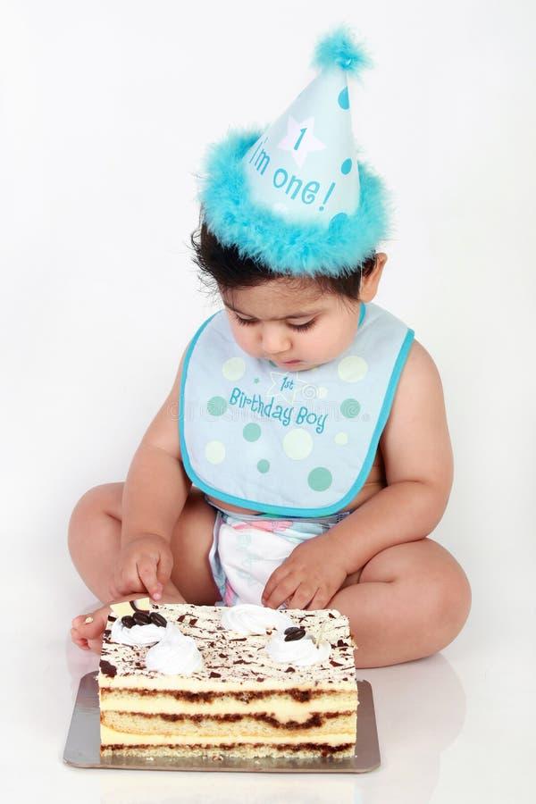Bebé do aniversário fotografia de stock