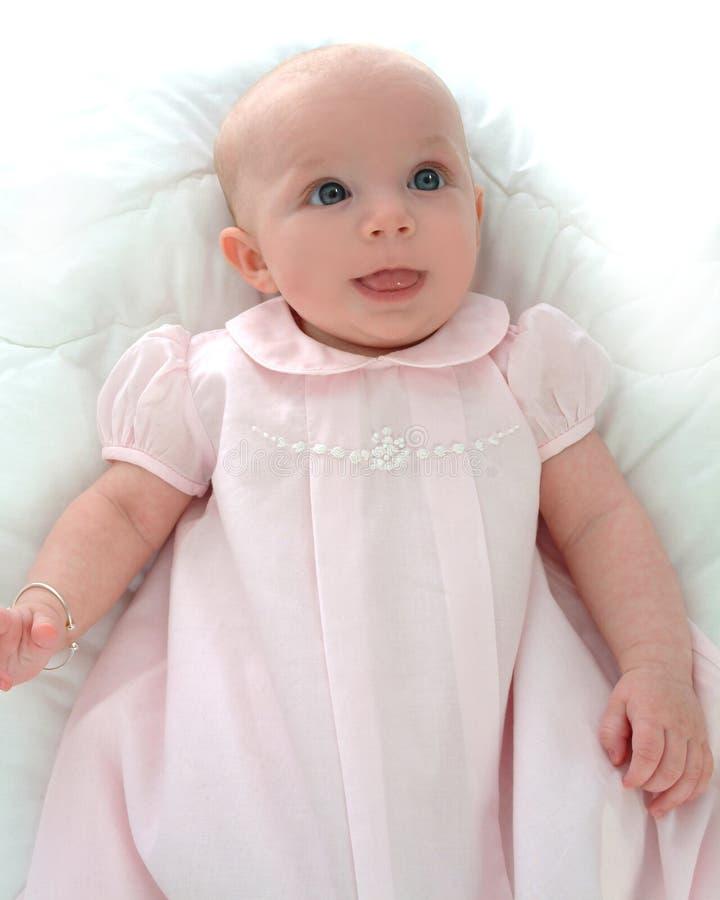 Bebé dulce en color de rosa imágenes de archivo libres de regalías