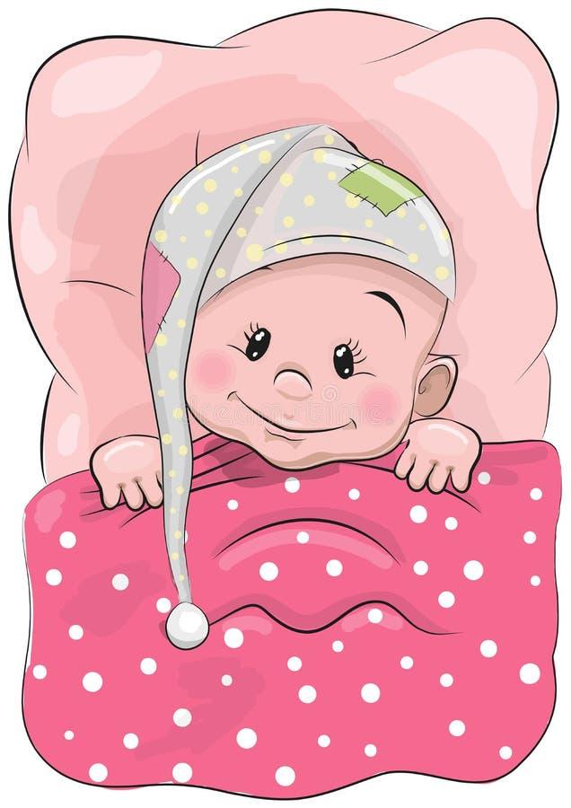 Bebé durmiente stock de ilustración