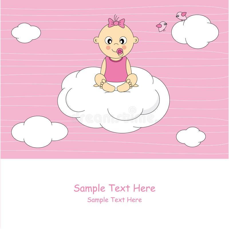 Bebé em uma nuvem ilustração stock