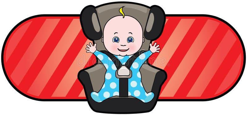 Bebé en asiento de coche ilustración del vector