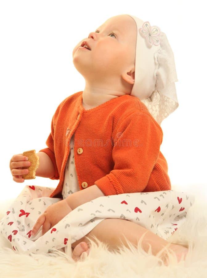 Bebé en blanco imagen de archivo