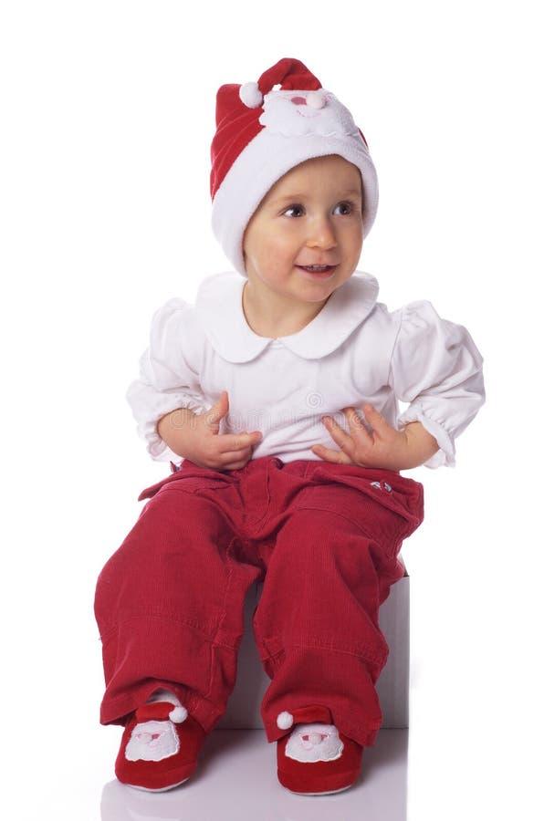 Download Bebé En El Sombrero Grande De Papá Noel Imagen de archivo - Imagen de lindo, entusiasmo: 7283003