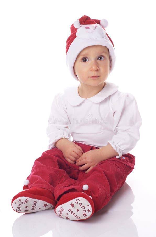 Download Bebé En El Sombrero Grande De Papá Noel Foto de archivo - Imagen de hermoso, risa: 7283014