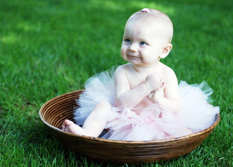 Bebé en el tazón de fuente - horizontal fotos de archivo