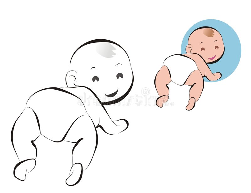 Bebé en panal stock de ilustración