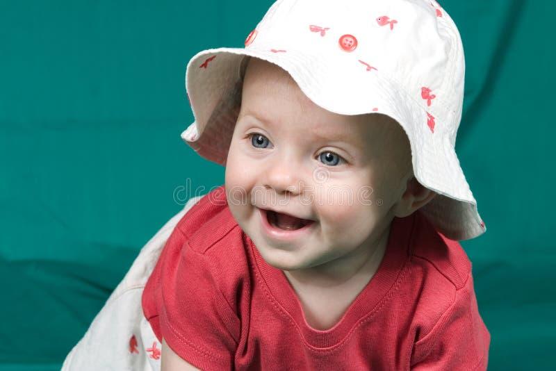 Bebé en sombrero fotografía de archivo libre de regalías