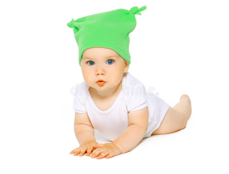 Bebé encantador en sombrero foto de archivo libre de regalías