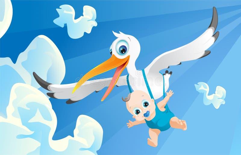 Bebé entrante ilustración del vector