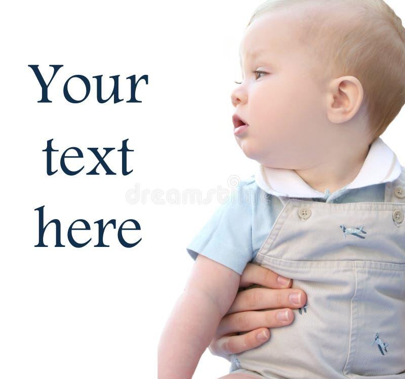 Bebé Eyed azul adorable con la mama imagen de archivo libre de regalías