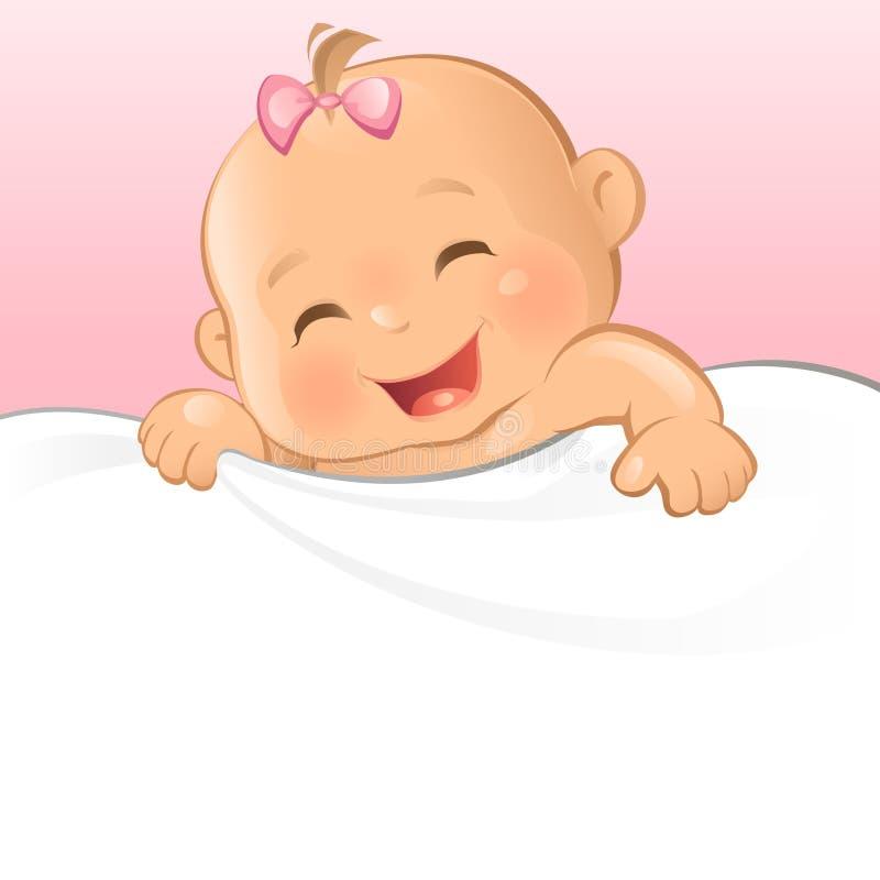Bebé feliz ilustração royalty free