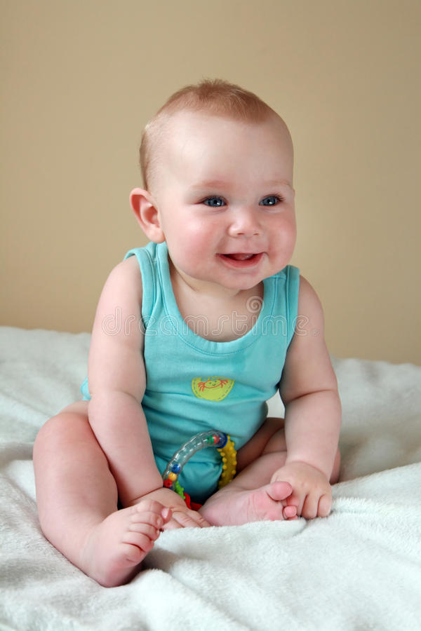Bebé Giggly imagem de stock royalty free