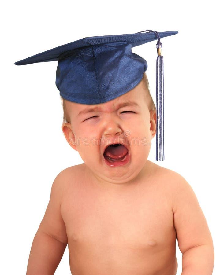 Bebé graduado foto de archivo