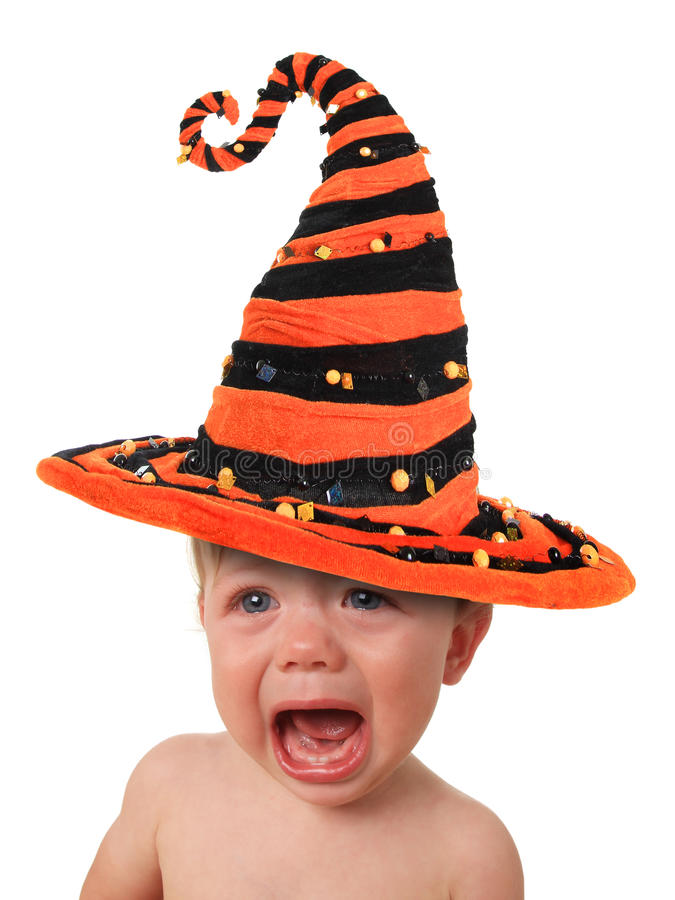 Bebé gritador de Halloween fotografía de archivo