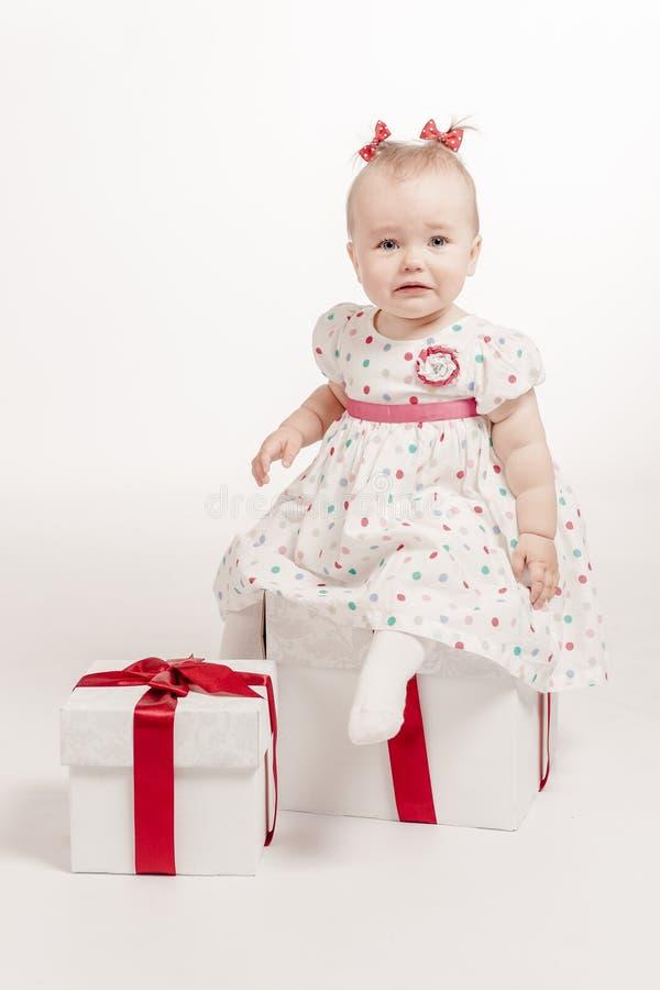 Bebé gritador encantador imágenes de archivo libres de regalías
