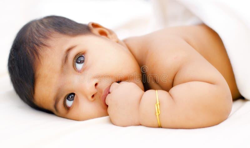 Bebé indiano fotografia de stock royalty free