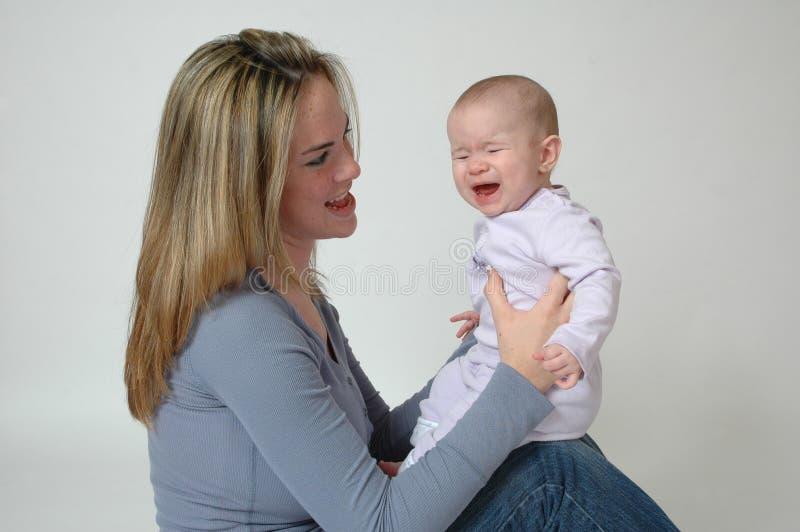 Bebé infeliz fotos de archivo libres de regalías