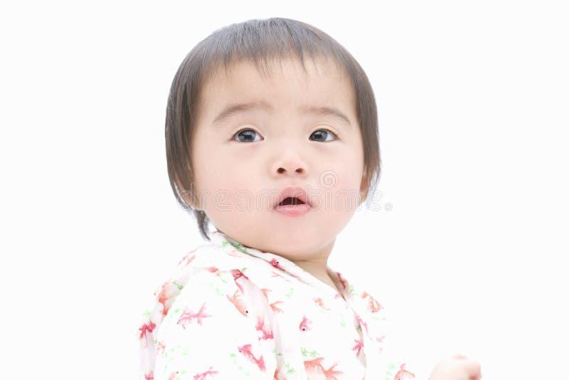 Bebé japonés de gran alcance fotografía de archivo libre de regalías