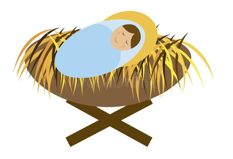 Bebé Jesús ilustración del vector