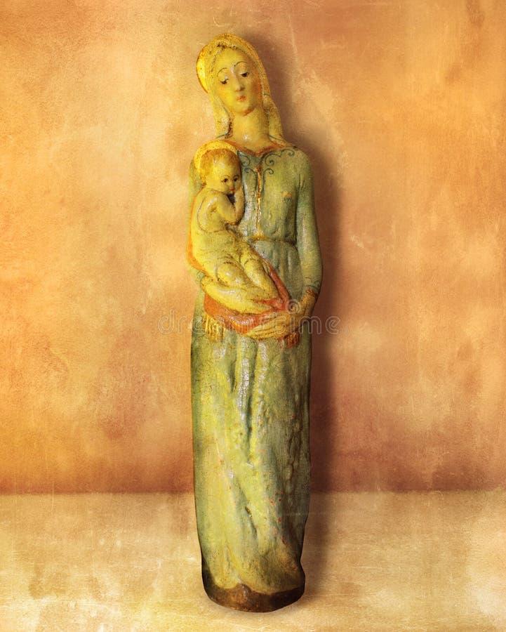 Bebé Jesús de la explotación agrícola de Maria de Virgen fotos de archivo