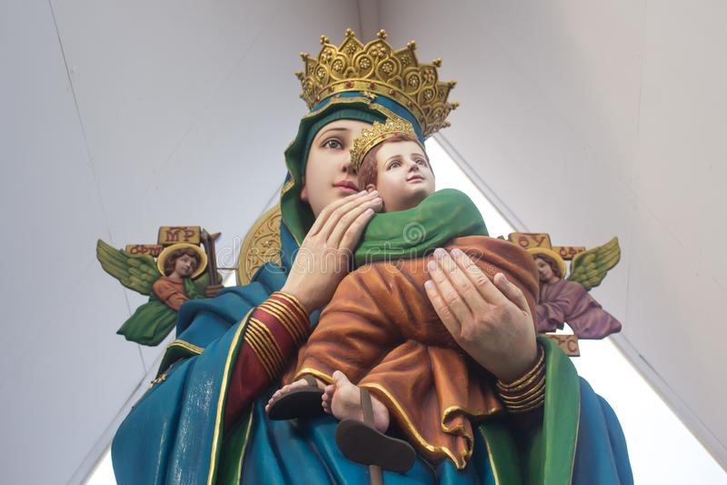 Bebé Jesus Christ y Virgen María imagen de archivo