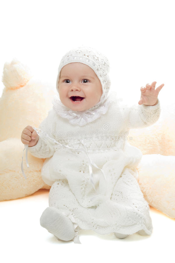 Bebé juguetón fotografía de archivo libre de regalías