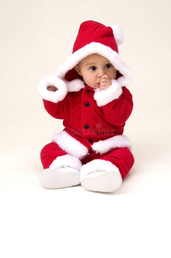 Bebé lindo listo para la Navidad foto de archivo