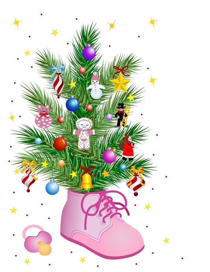 Bebé - Natal ilustração stock