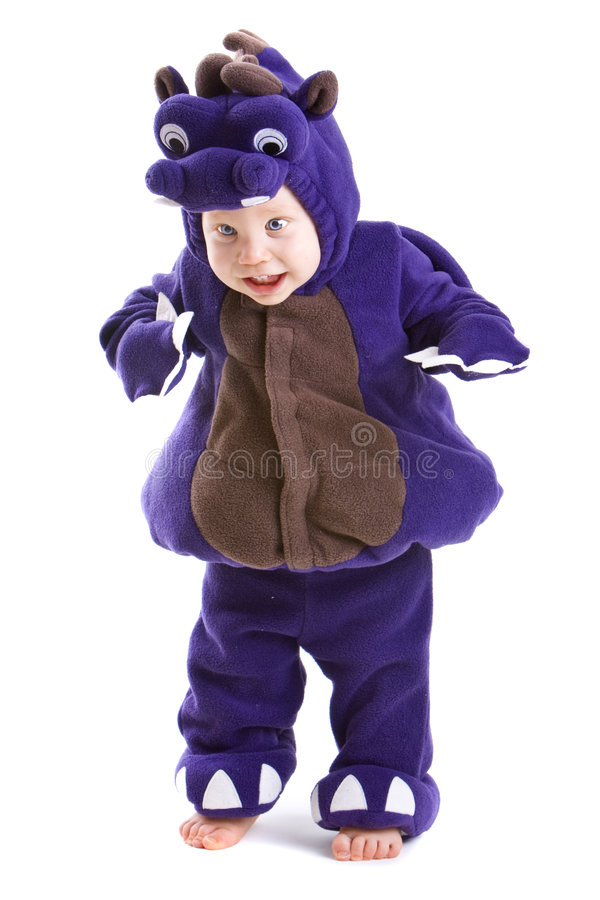 Bebé no traje fotografia de stock royalty free