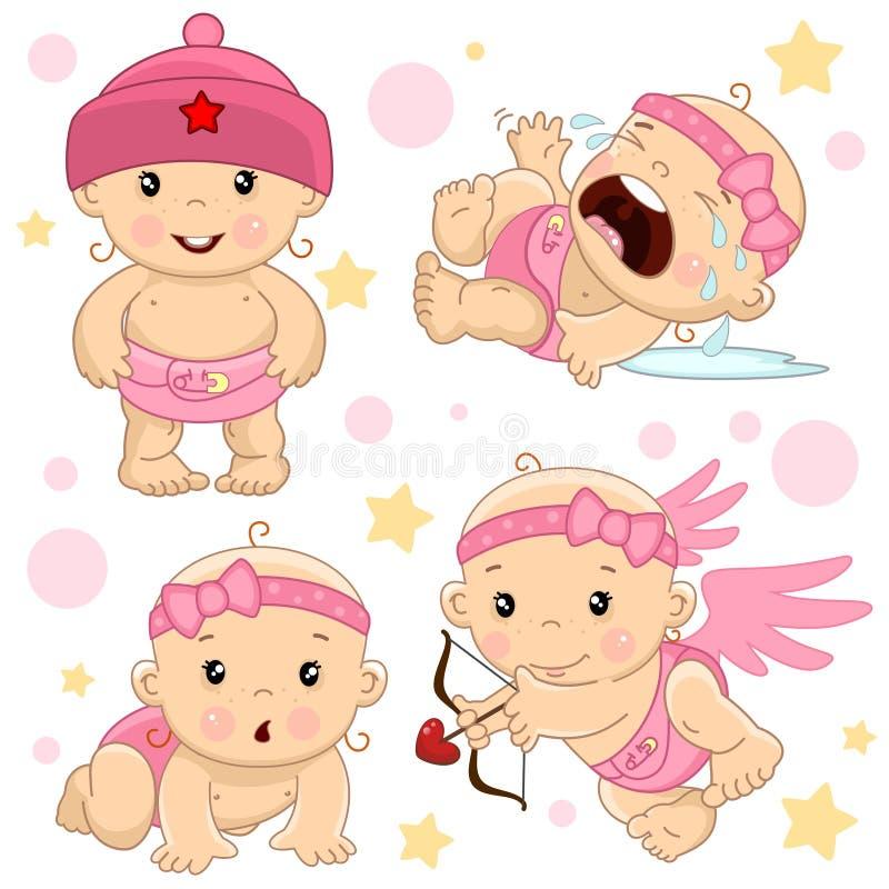 Bebé 1 porción ilustración del vector